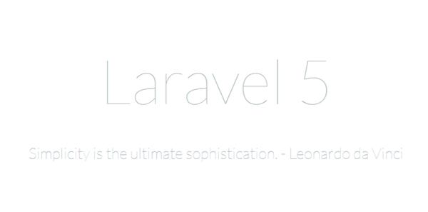 Laravelトップページ