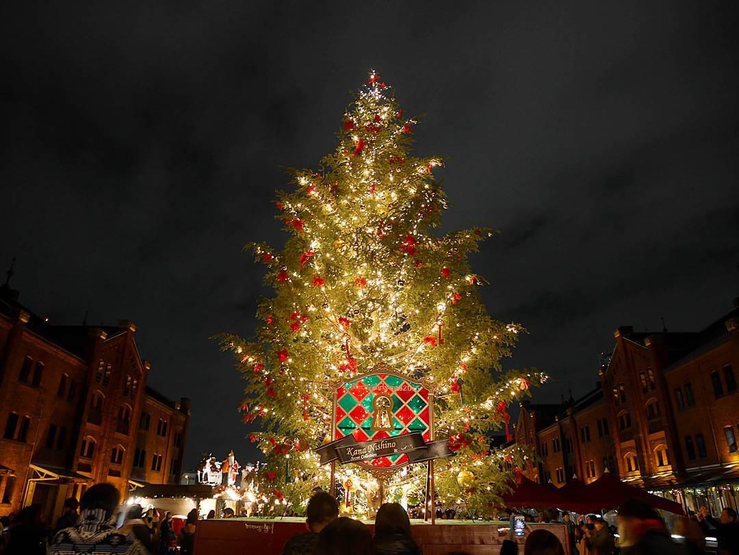 横浜赤レンガクリスマスマーケット2015 クリスマスツリー