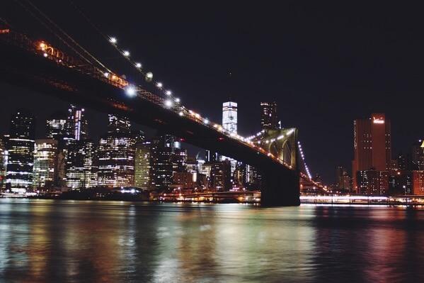 ブルックリン橋夜景