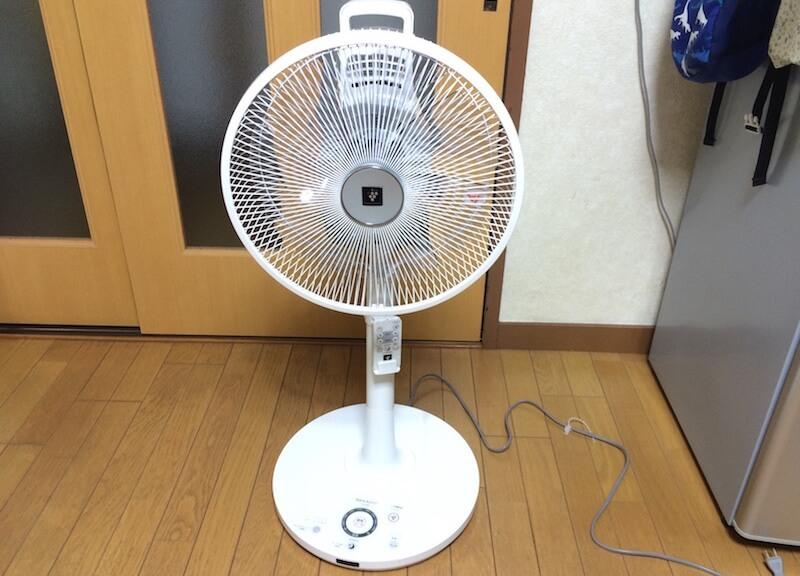 プラズマクラスター扇風機 完成