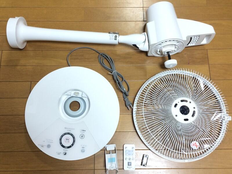 プラズマクラスター扇風機 組み立て