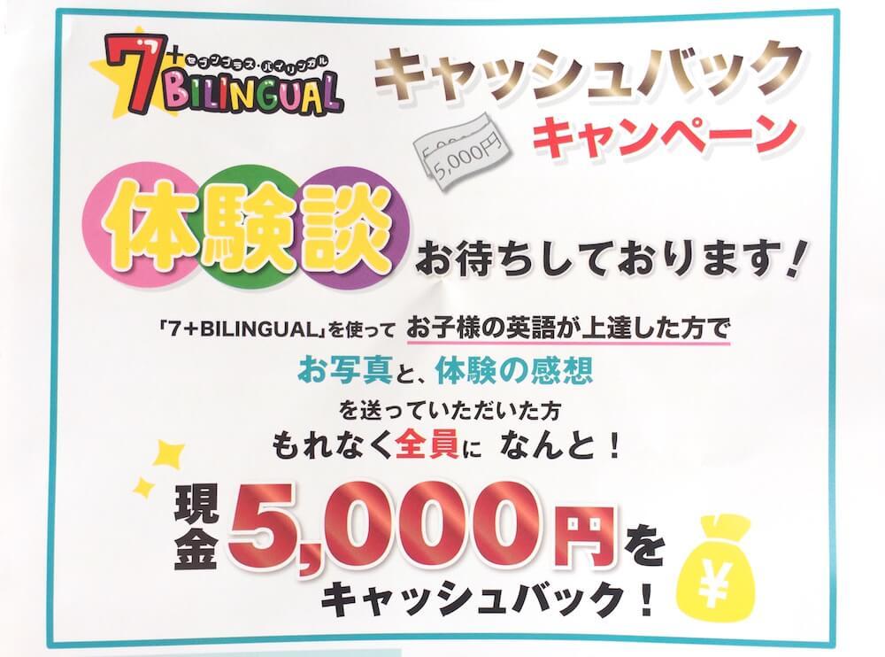7+Bilingual キャンペーン