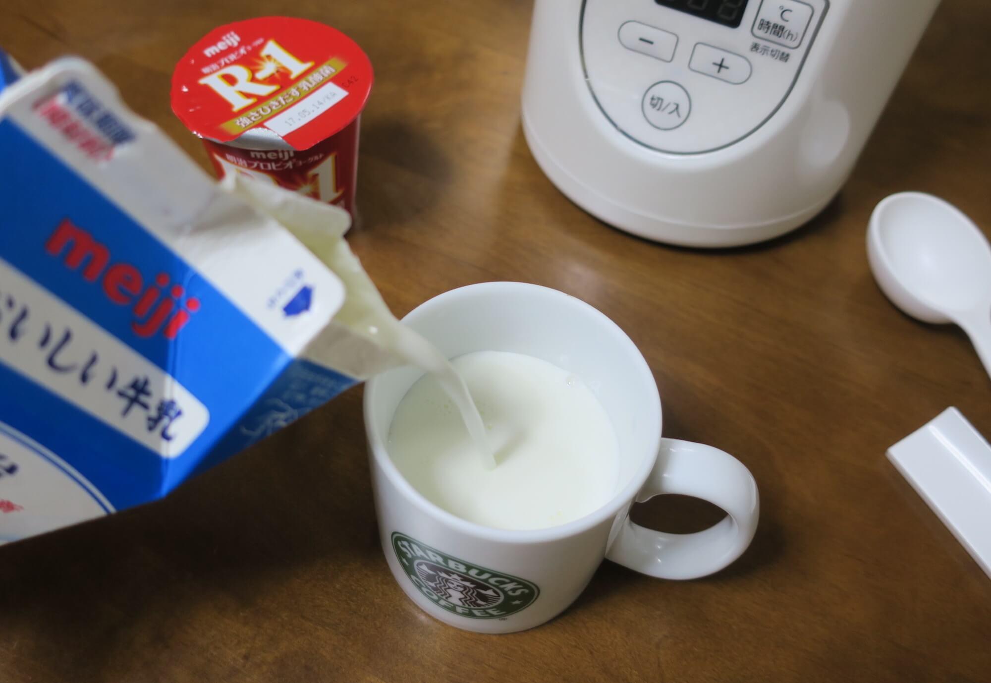 牛乳を100ml程度減らす