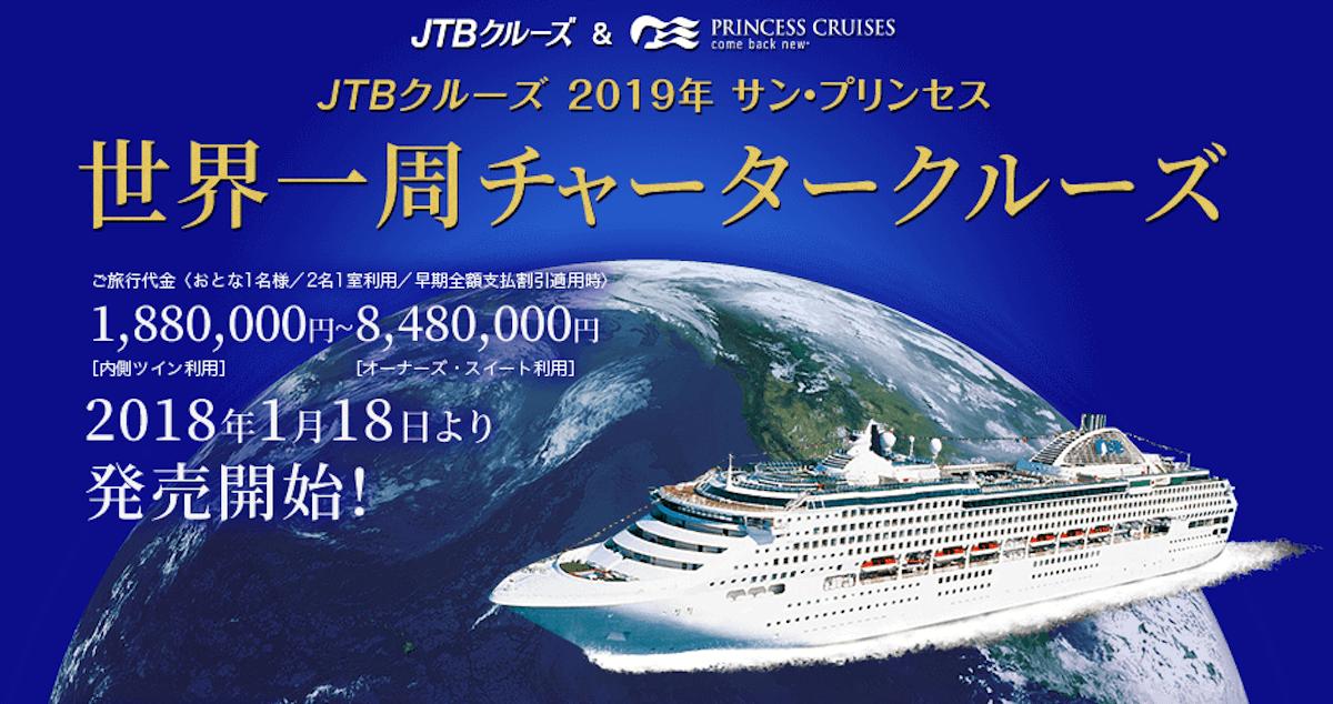 2019年JTB世界一周チャータークルーズ