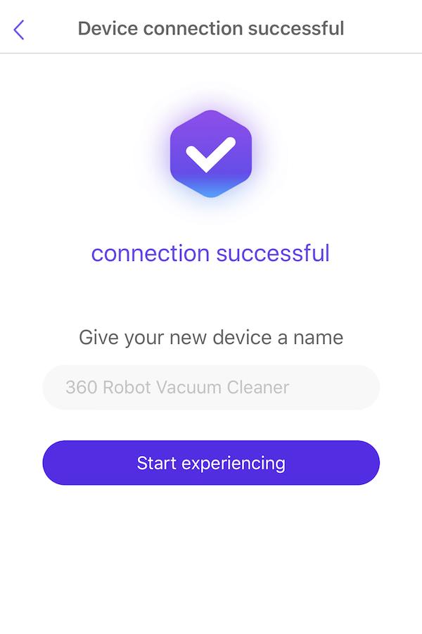 Wifi設定完了画面