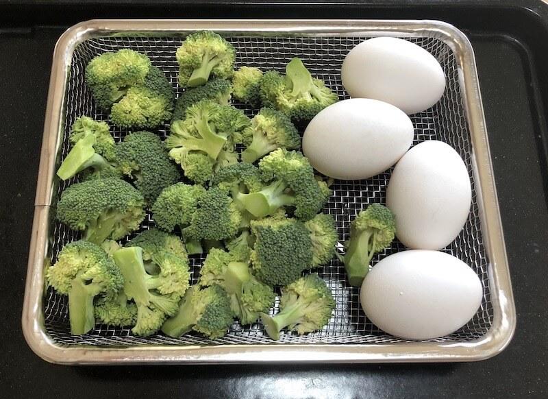 蒸し野菜 ゆで卵 ヘルシオ