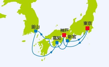 6月9 6月10発  太平洋周遊1WEEKクルーズ釜山 高知 和歌山7泊8日