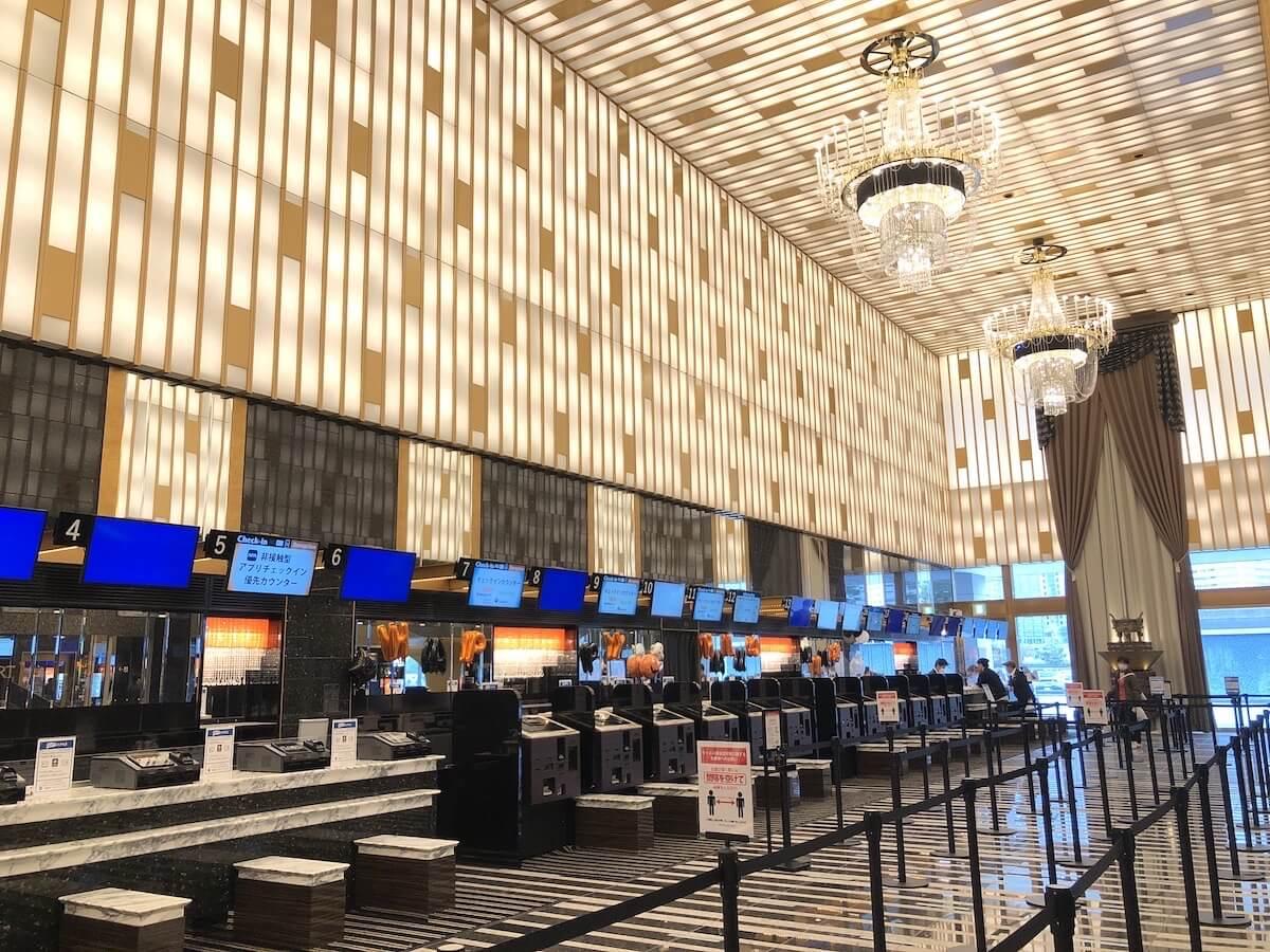 アパホテル リゾート 横浜ベイタワー チェックインカウンター