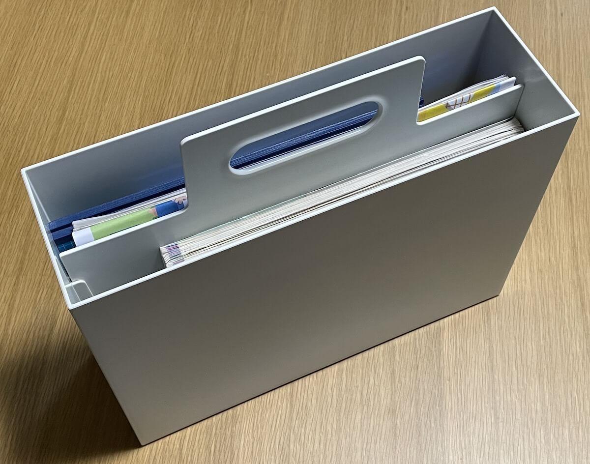 持ち手付きファイルボックス3